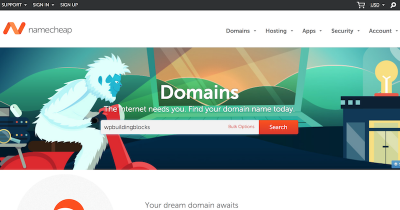 type the domain you want into Namecheap