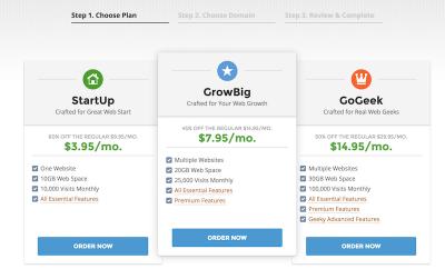 Choose your Siteground Plan