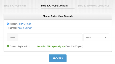 Enter your domain information