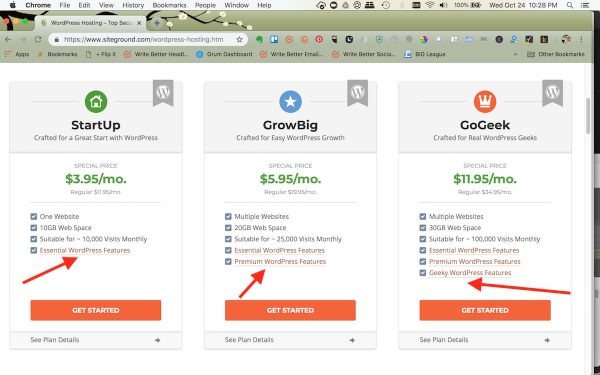 choose your WordPress hosting plan