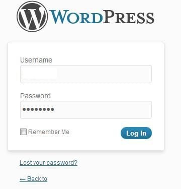 Log into your WordPress Dashboard