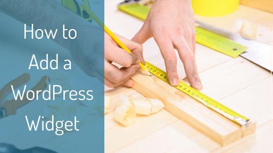 how to add a wordpress widget