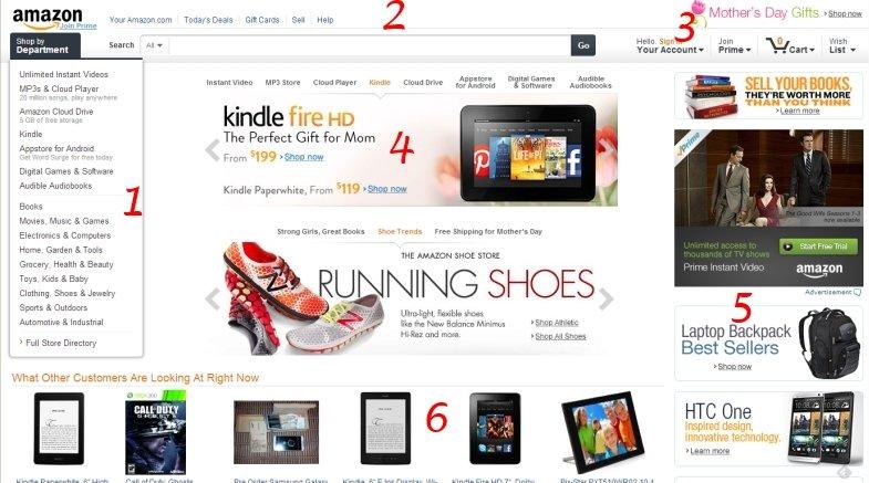 Amazon.com home page