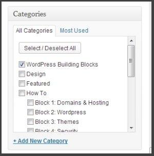 Select a WordPress Category