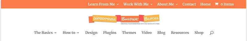 an example showing 2 custom menus in WordPress