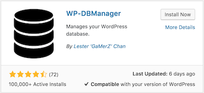 WP-DB Manager