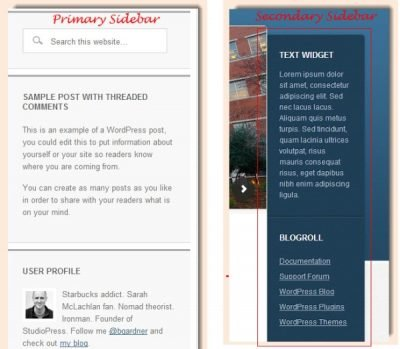 Two Styles of Sidebars Education Theme