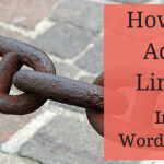 image: how to add links in WordPress