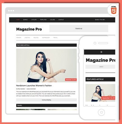 picture of Magazine Pro theme from StudiioPress