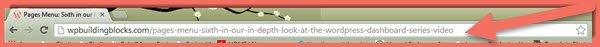 image of Chrome browser address window