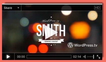 screenshot of video introducing WordPress 3.9
