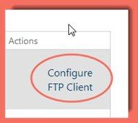 image of configure FTP Client link