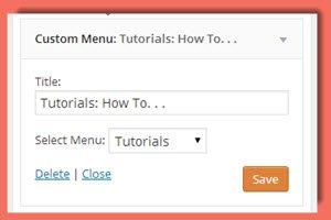 image of widget settings