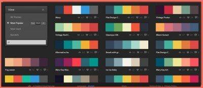 image of multiple color pallettes