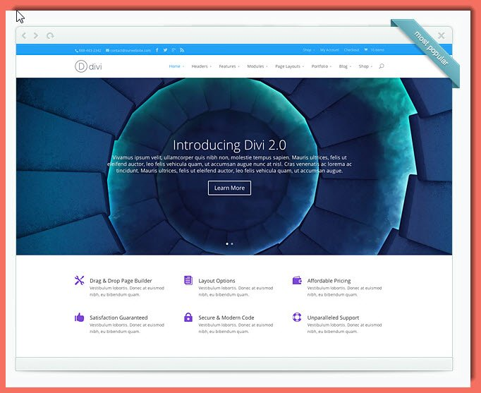 A first look at divi elegant themes 39 flagship wordpress theme - Divi builder 2 0 7 ...