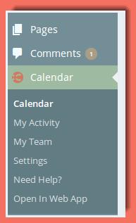 image of CoSchedule menu on the WordPress Dashboard