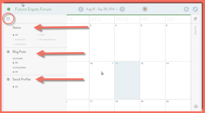 image of CoSchedule Status menu/flyout