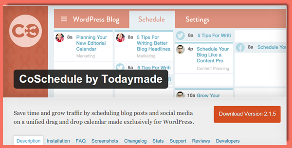 image of CoSchedule plugin page