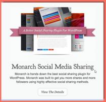 image of Monarch Social Media plugin
