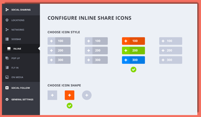 image of configure share icons screet
