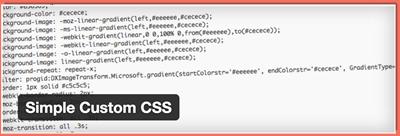 image of Simple Custom CSS plugin