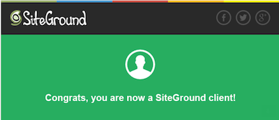 Siteground confirmation email
