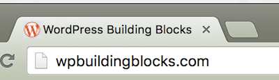 Favicon for WordPress Building Blocks