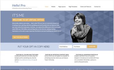 Hello Pro personal branding theme