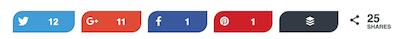 Social Warfare social sharing icons