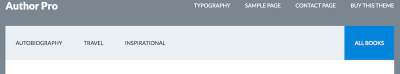highlighted menu item in Author Pro
