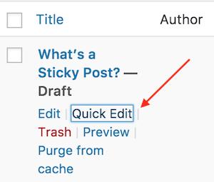 select quick edit