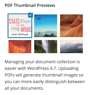WordPress 4.7 PDF preview image