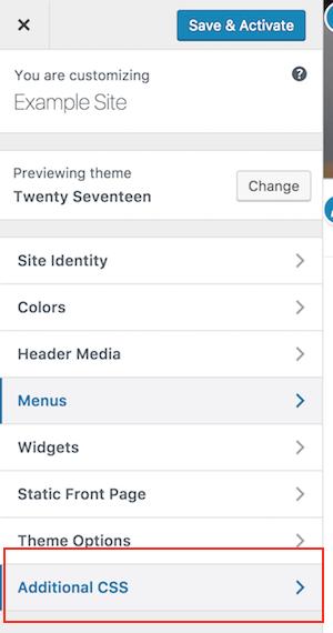 WordPress 4.7 CSS
