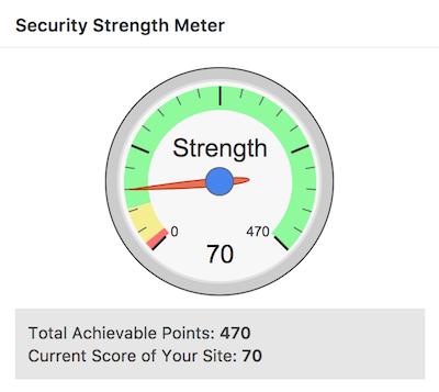 Security strength meter