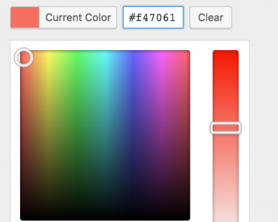 WordPress color customizer