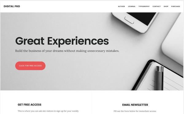 Digital Pro WordPress theme from StudioPress