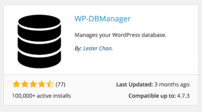 WP-DB Manager Plugin