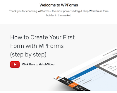 watch the WPForms video