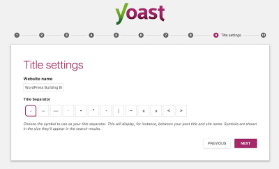 Yoast SEO Title Settings
