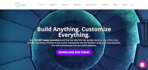 Divi can be used as an excellent photography WordPress theme