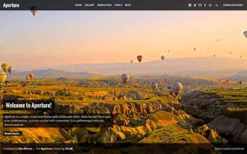 Aperture photography WordPress theme