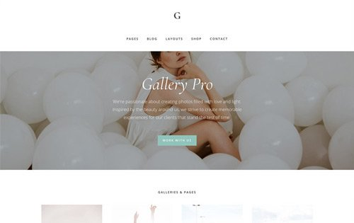 Gallery Pro from StudioPress - one of the best photography themes for WordPress