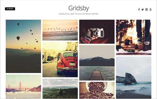 Gridsby WordPress theme for photographers