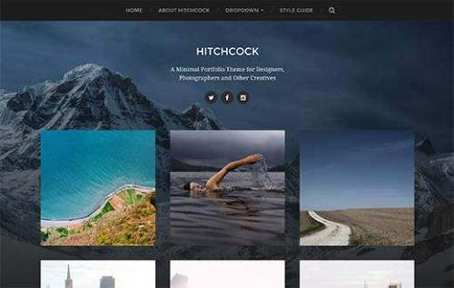 Hitchcock photography WordPress theme