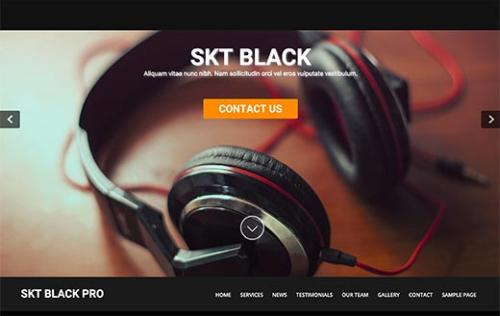 SKT Black photography WordPress theme