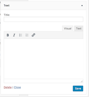 the new rich text widget in WordPress 8.1