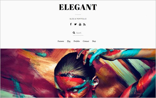 Elegant - one of the best WordPress themes for freelancers