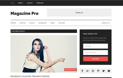Magazine Pro - one of the best WordPress themes for freelancers