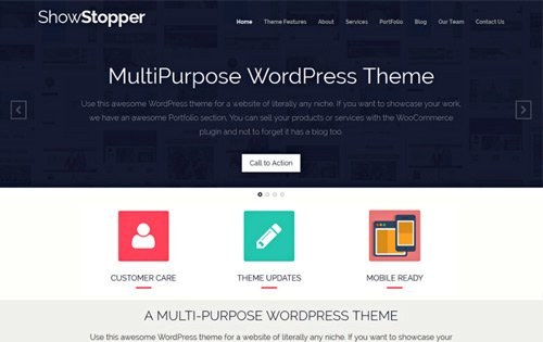 Showstopper - one of the best WordPress themes for freelancers