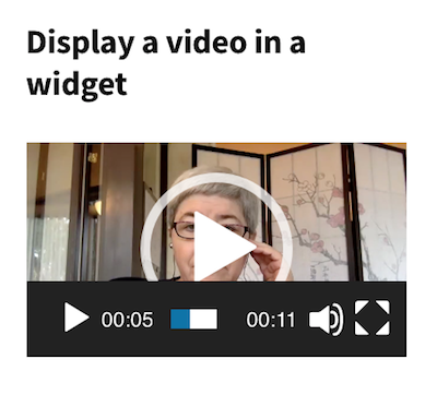 video widget in the sidebar WordPress 4.9